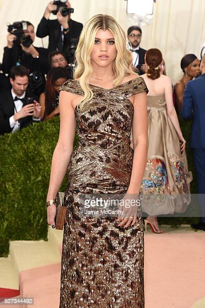Sofia Richie attends the 'Manus x Machina Fashion In An Age Of Technology' Costume Institute Gala at Metropolitan Museum of Art on May 2 2016 in New...