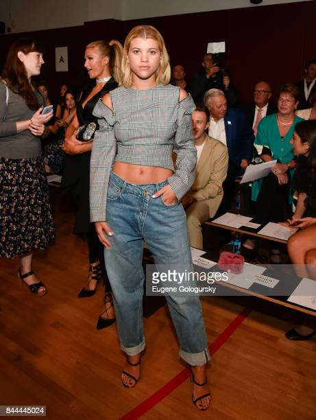 Sofia Richie attends the Monse fashion show during New York Fashion Week The Shows on September 8 2017 in New York City