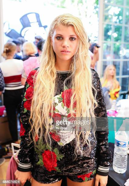 Sofia Richie backstage at Philipp Plein Cruise Show 2018 during the 70th annual Cannes Film Festival at on May 24 2017 in Cannes France