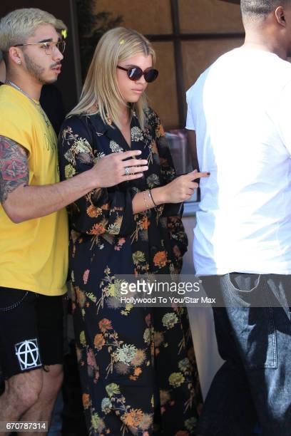 Sofia Richie is seen on April 19 2017 in Los Angeles California
