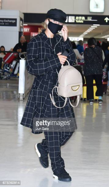 Sofia Richie is seen upon arrival at the Narita International Airport on April 26 2017 in Narita Japan