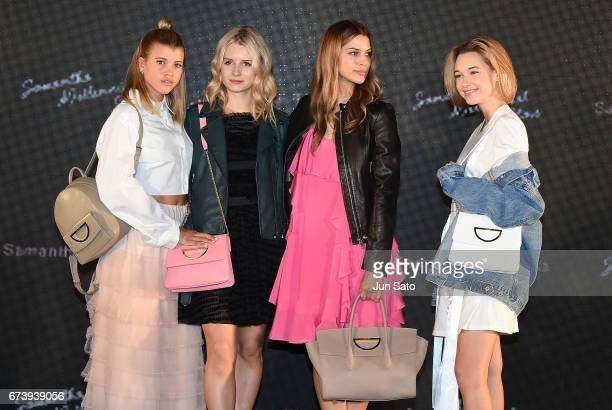 Sofia Richie Lottie Moss Kenya KinskiJones and Sarah Snyder attend the Samantha Thavasa Millennial Stars Fashion Event on April 27 2017 in Tokyo Japan