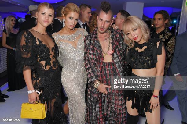 Sofia Richie Paris Hilton Cole Whittle and JinJoo Lee attend the amfAR Gala Cannes 2017 at Hotel du CapEdenRoc on May 25 2017 in Cap d'Antibes France