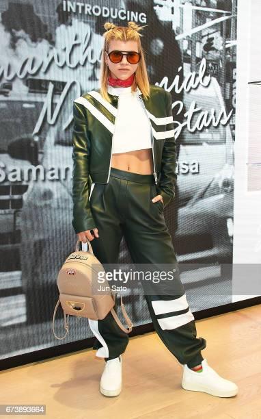 Sofia Richie visits at Samantha Thavasa Digital Popup Omotesando Store on April 27 2017 in Tokyo Japan