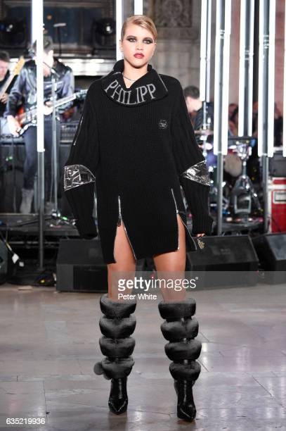 Sofia Richie walks the runway at Philipp Plein show during New York Fashion Week The Shows at New York Public Library on February 13 2017 in New York...
