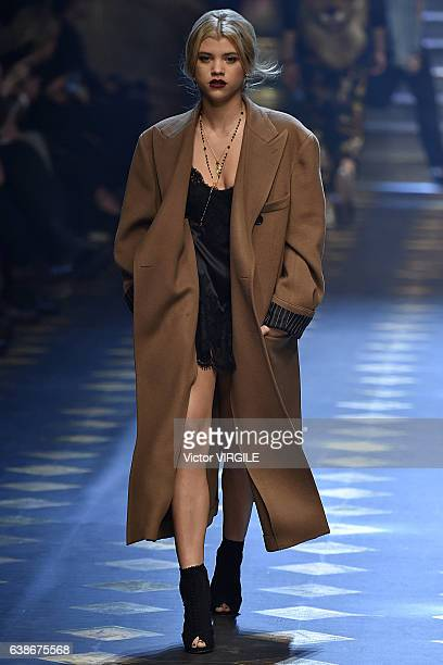 Sofia Richie walks the runway at the Dolce Gabbana show during Milan Men's Fashion Week Fall/Winter 2017/18 on January 14 2017 in Milan Italy