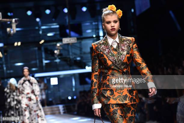 Sofia Richie walks the runway at the Dolce Gabbana show during Milan Fashion Week Fall/Winter 2017/18 on February 26 2017 in Milan Italy