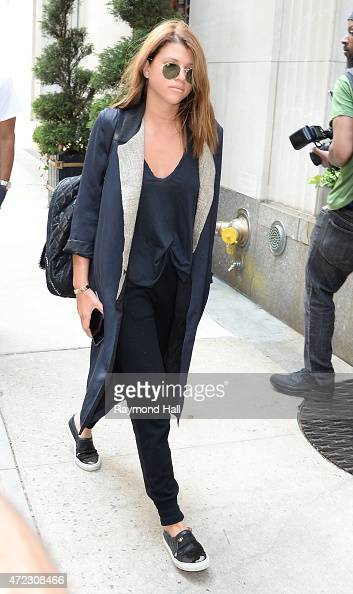 Sofia Richir is seen walking in Midtown May 5 2015 in New York City