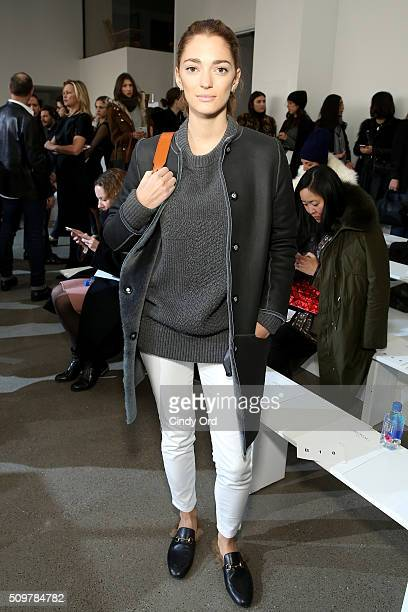 Sofia Sanchez attends the Jason Wu Fall 2016 fashion show during New York Fashion Week at Spring Studios on February 12 2016 in New York City