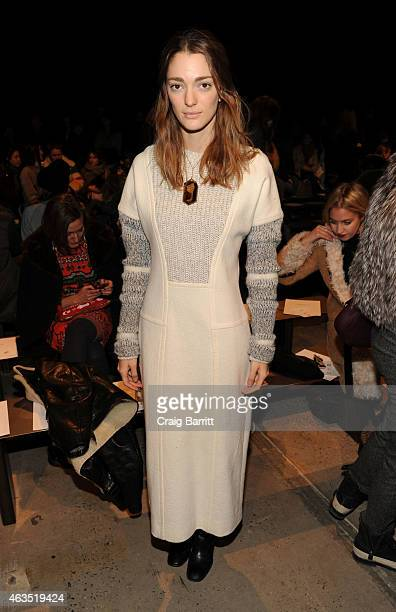 Sofia Sanchez attends the Thakoon fashion show at SIR Stage37 on February 15 2015 in New York City