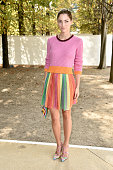 Sofia Sanchez Barrenechea arrives at the Valentino show as part of the Paris Fashion Week Womenswear Spring/Summer 2015 on September 30 2014 in Paris...