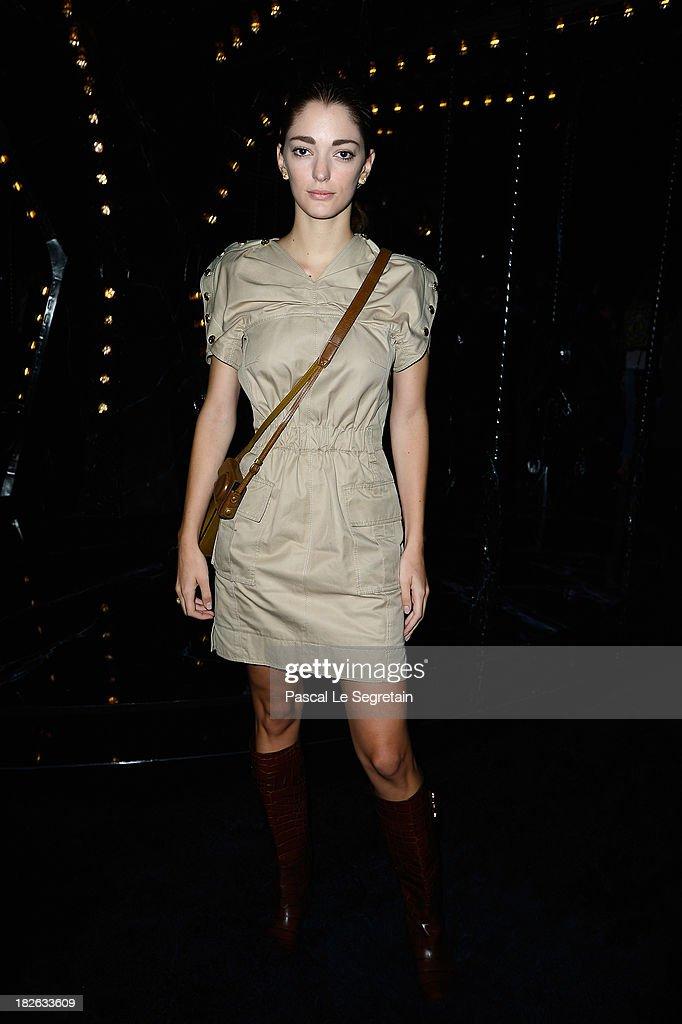 Sofia Sanchez Barrenechea attends the Louis Vuitton show as part of the Paris Fashion Week Womenswear Spring/Summer 2014 at Le Carre du Louvre on October 2, 2013 in Paris, France.