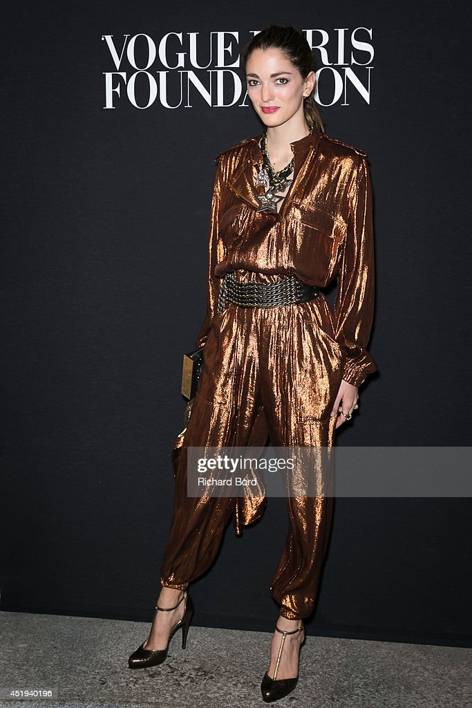 Sofia Sanchez Barrenechea attends the Vogue Foundation Gala as part of Paris Fashion Week at Palais Galliera on July 9, 2014 in Paris, France.