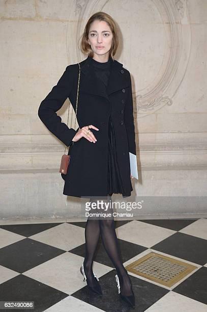 Sofia Sanchez de Betak attends the Christian Dior Haute Couture Spring Summer 2017 show as part of Paris Fashion Week on January 23 2017 in Paris...
