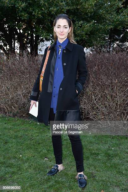 Sofia Sanchez de Betak attends the Christian Dior Spring Summer 2016 show as part of Paris Fashion Week on January 25 2016 in Paris France