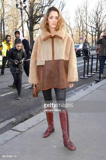 Sofia Sanchez de Betak is seen arriving at Chloe fashion show during the Paris Fashion Week Womenswear Fall/Winter 2017/2018 on March 2 2017 in Paris...