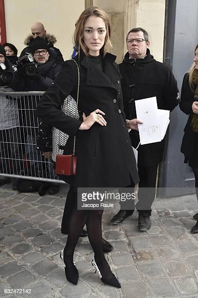 Sofia Sanchez de Betak is seen arriving at Dior Fashion show during Paris Fashion Week Haute Couture F/W 20172018 on January 23 2017 in Paris France