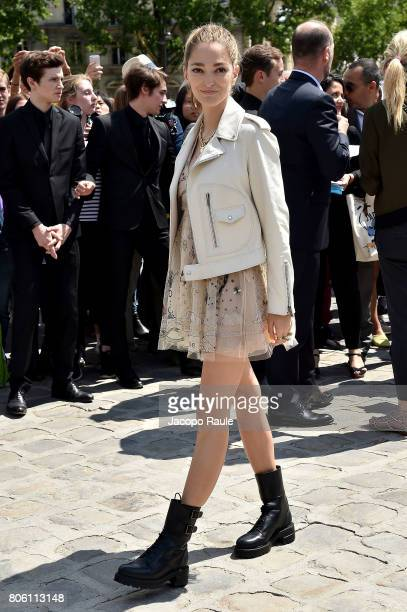 Sofia Sanchez de Betak is seen arriving at the 'Christian Dior' show during Paris Fashion Week Haute Couture Fall/Winter 20172018 on July 3 2017 in...