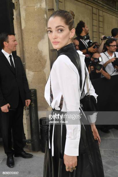 Sofia Sanchez de Betak is seen arriving at Valentino fashion show during the Paris Fashion Week Haute Couture Fall/Winter 20172018 on July 5 2017 in...