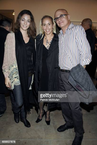 Sofia Sanchez Eleanor Gaber and Sam Messer attend CLIFFORD ROSS Gallery Opening at Sonnabend Gallery on October 24 2009 in New York City
