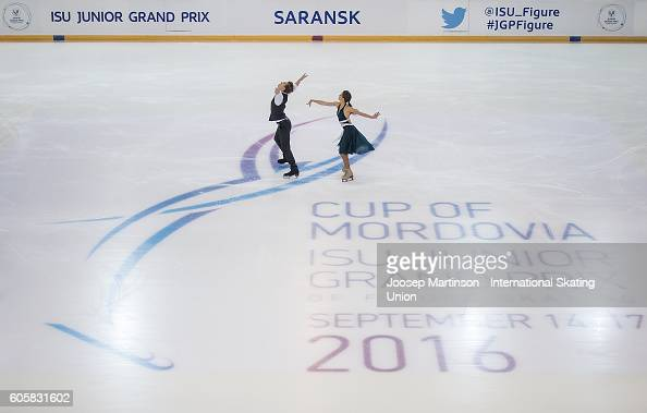 Sofia Shevchenko and Igor Eremenko of Russia compete during the Junior Ice Dance Free Dance on day one of the ISU Junior Grand Prix of Figure Skating...