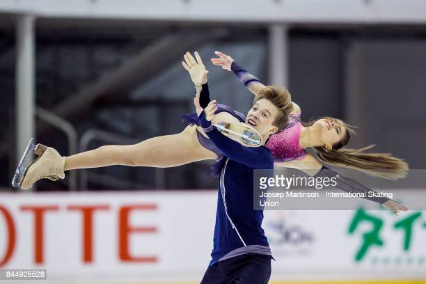 Sofia Shevchenko and Igor Eremenko of Russia compete in the Junior Ice Dance Free Dance during day 3 of the Riga Cup ISU Junior Grand Prix of Figure...