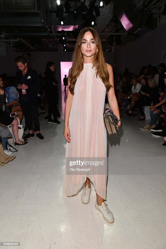 Sofia Tsakiridou attends the Marcel Ostertag fashion show during New York Fashion Week: The Shows at Gallery 3, Skylight Clarkson Sq on September 13, 2017 in New York City.