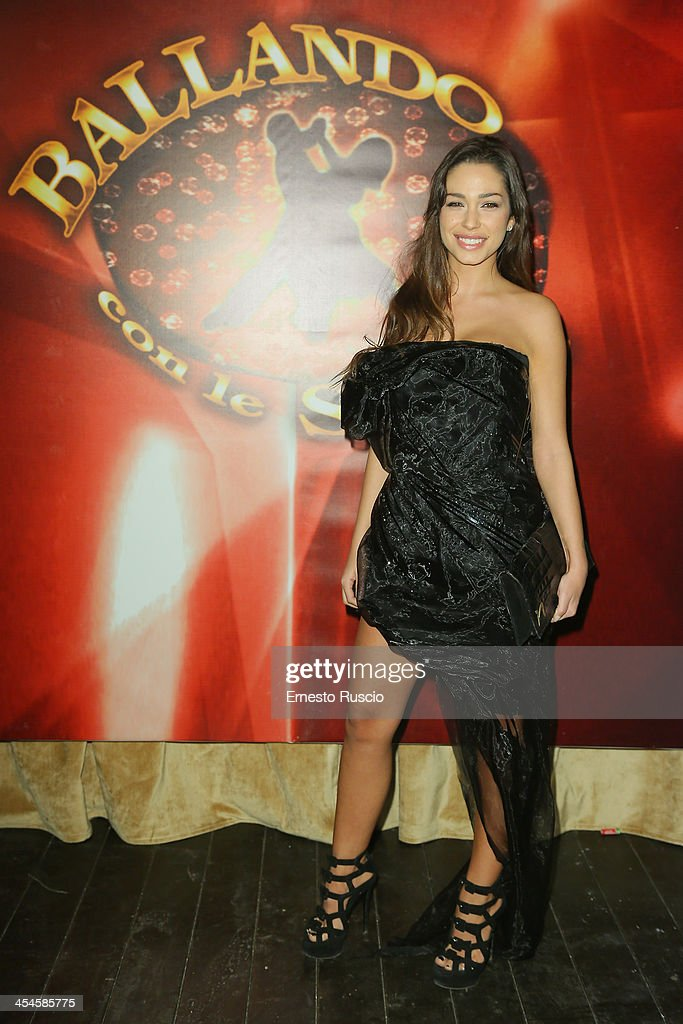 Sofia Valleri attends the 'Ballando con le stelle' 100th Episode Party at La Villa on December 9, 2013 in Rome, Italy.