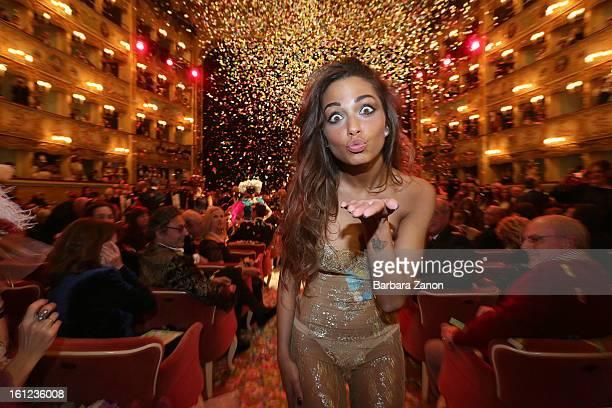 Sofia Valleri seen during the exclusive Gran Ballo della Cavalchina at La Fenice Theater on February 9 2013 in Venice Italy