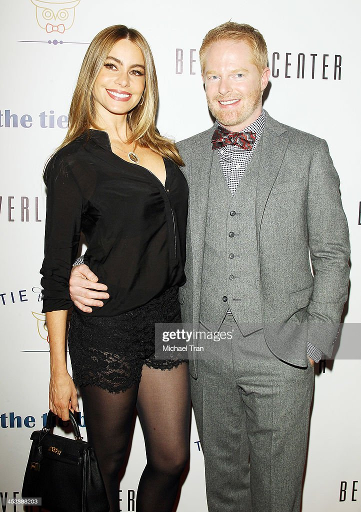 Sofia Vergara (L) and arrives at the 'Tie The Knot' pop-up store opening held at The Beverly Center on December 5, 2013 in Los Angeles, California.
