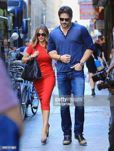 Sofia Vergara and Joe Manganiello are seen on September 23 2015 in New York City