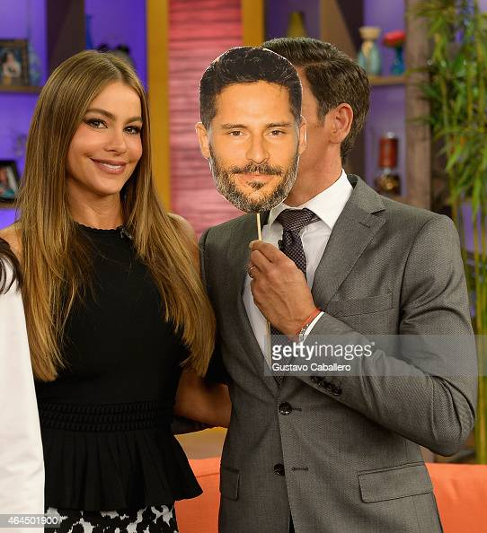 Sofia Vergara and Johnny Lozada is on the set of Despierta America at Univision Studios on February 26 2015 in Miami Florida