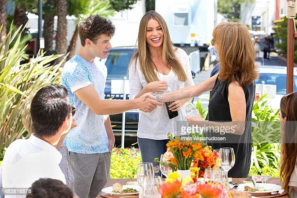 Sofia Vergara and Nolan Gould of Emmyaward winning show Modern Family surprised Stand Up To Cancer cofounder Rusty Robertson and MasterCard...