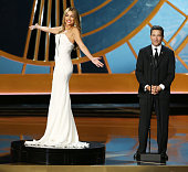 Sofia Vergara and Television Academy CEO Bruce Rosenblum perform onstage during the 66th Annual Primetime Emmy Awards held at Nokia Theatre LA Live...