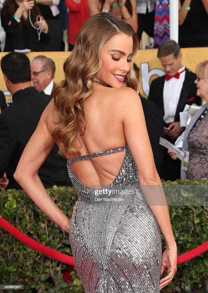 Sofia Vergara arrives at the 20th Annual Screen Actors Guild Awards at the Shrine Auditorium on January 18, 2014 in Los Angeles, California.
