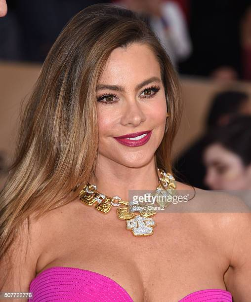 Sofia Vergara arrives at the 22nd Annual Screen Actors Guild Awards at The Shrine Auditorium on January 30 2016 in Los Angeles California