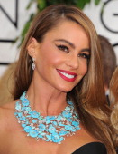 Sofia Vergara arrives at the 71st Annual Golden Globe Awards at The Beverly Hilton Hotel on January 12 2014 in Beverly Hills California