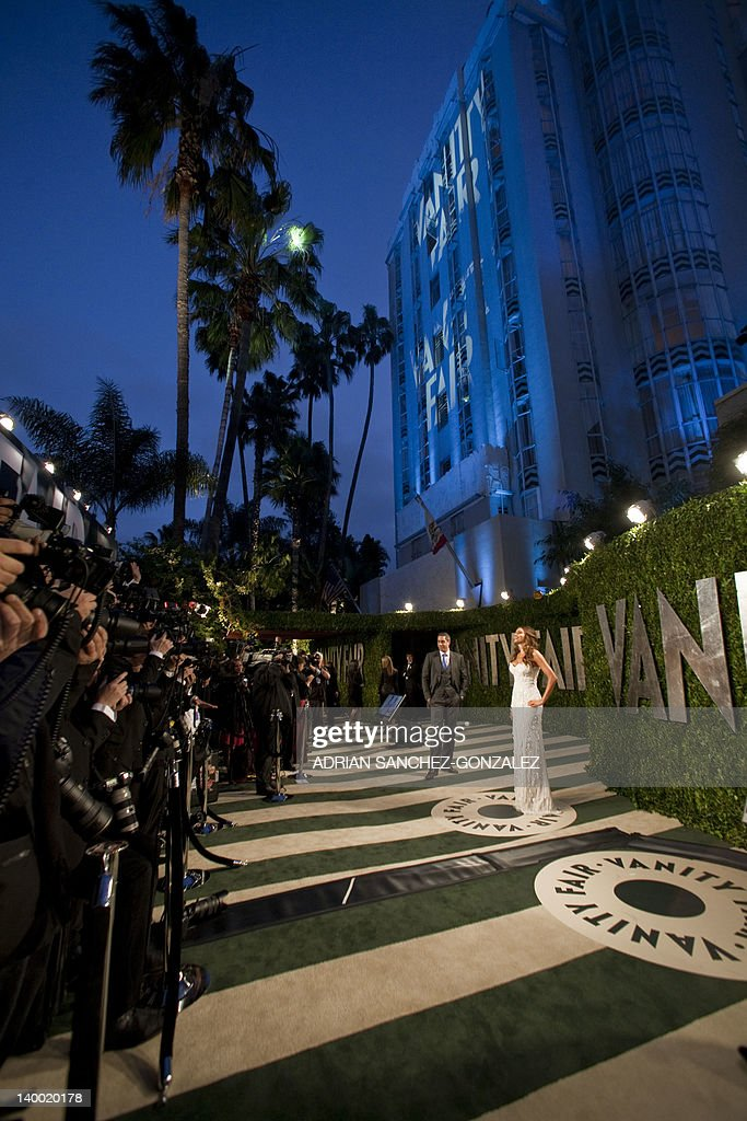Sofia Vergara arrives at the Vanity Fair Oscar Party, for the 84th Annual Academy Awards, at the Sunset Tower on February 26, 2012 in West Hollywood, California. GONZALEZ