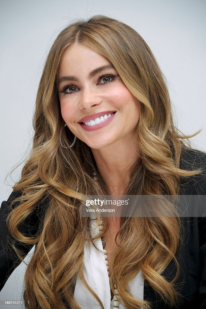 Sofia Vergara at the 'Modern Family' Press Conference at the Four Seasons Hotel on October 8 2013 in Beverly Hills California