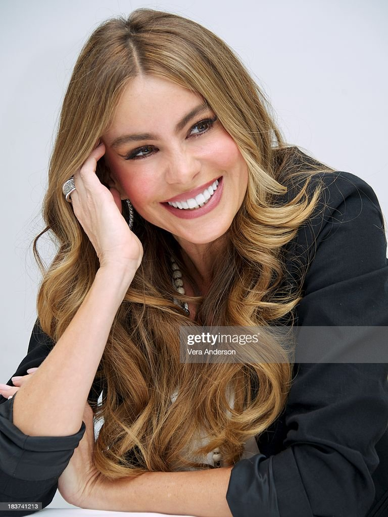 Sofia Vergara at the 'Modern Family' Press Conference at the Four Seasons Hotel on October 8, 2013 in Beverly Hills, California.