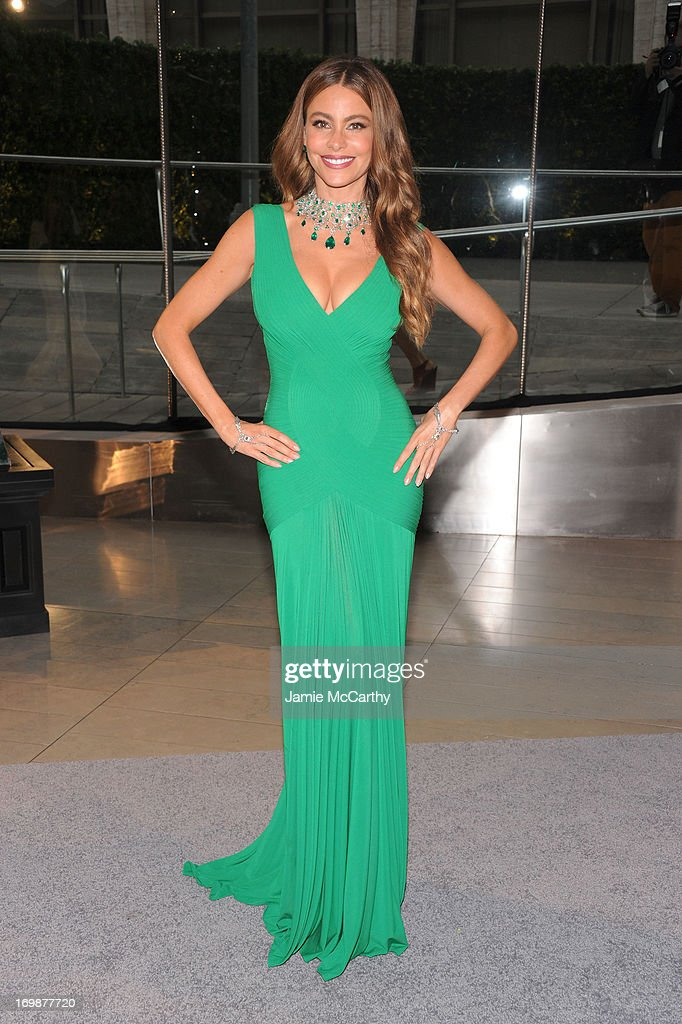 <a gi-track='captionPersonalityLinkClicked' href=/galleries/search?phrase=Sofia+Vergara&family=editorial&specificpeople=214702 ng-click='$event.stopPropagation()'>Sofia Vergara</a> attends 2013 CFDA FASHION AWARDS Underwritten By Swarovski - Red Carpet Arrivals at Lincoln Center on June 3, 2013 in New York City.