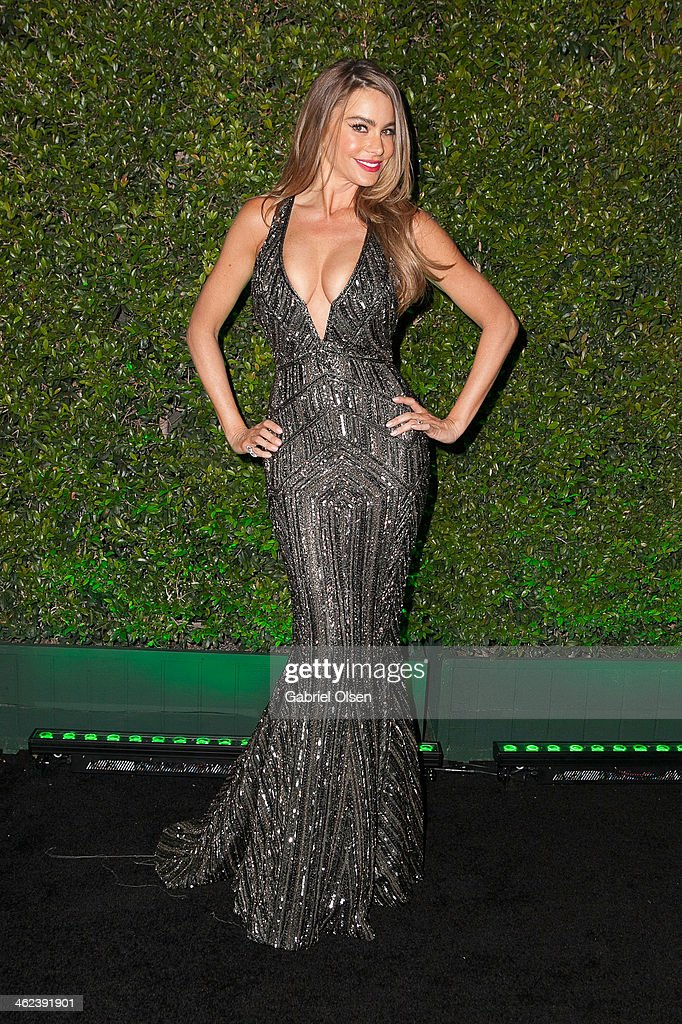 <a gi-track='captionPersonalityLinkClicked' href=/galleries/search?phrase=Sofia+Vergara&family=editorial&specificpeople=214702 ng-click='$event.stopPropagation()'>Sofia Vergara</a> attends Fox And FX's 2014 Golden Globe Awards Party on January 12, 2014 in Beverly Hills, California.