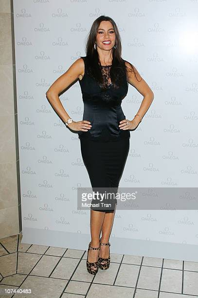 Sofia Vergara attends ribbon cutting ceremony of OMEGA's newest boutique held at The Beverly Center shopping mall on December 8 2010 in Los Angeles...
