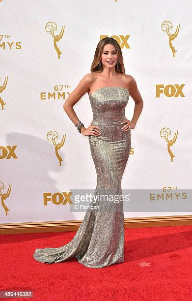 Sofia Vergara attends the 67th Annual Primetime Emmy Awards at Microsoft Theater on September 20 2015 in Los Angeles California