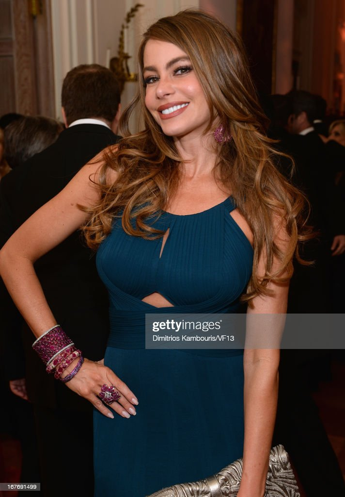 Sofia Vergara attends the Bloomberg & Vanity Fair cocktail reception following the 2013 WHCA Dinner at the residence of the French Ambassador on April 27, 2013 in Washington, DC.
