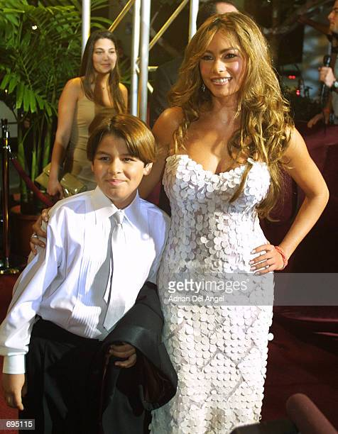 Sofia Vergara attends the first 'Lo Nuestro' awards hosted by Univision Spanishlanguage television on February 7 2002 in Miami FL