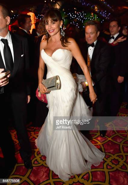 Sofia Vergara attends the HBO's Official 2017 Emmy After Party at The Plaza at the Pacific Design Center on September 17 2017 in Los Angeles...