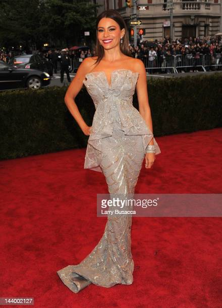Sofia Vergara attends the 'Schiaparelli And Prada Impossible Conversations' Costume Institute Gala at the Metropolitan Museum of Art on May 7 2012 in...