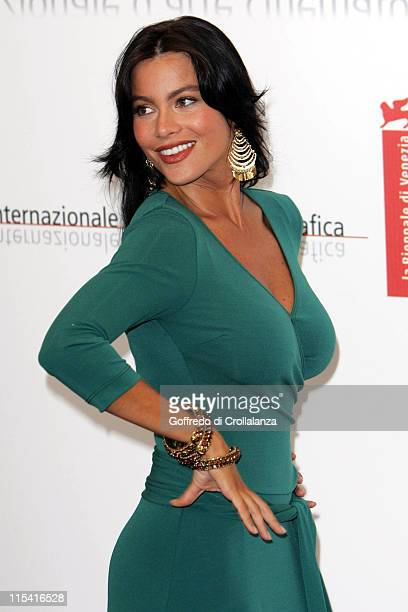 Sofia Vergara during 2005 Venice Film Festival 'Four Brothers' Photocall at Casino Palace in Venice Italy