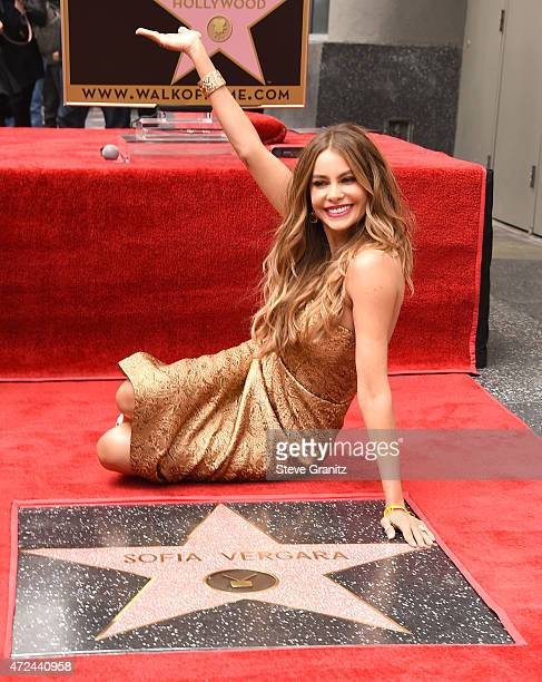 Sofia Vergara Honored With Star On The Hollywood Walk Of Fame on May 7 2015 in Hollywood California